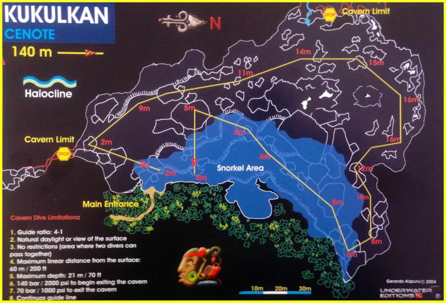 cenotes layout Kukulkan