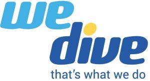 we dive logo